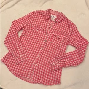 L.O.G.G. (H&M) Pink and White Checked Shirt